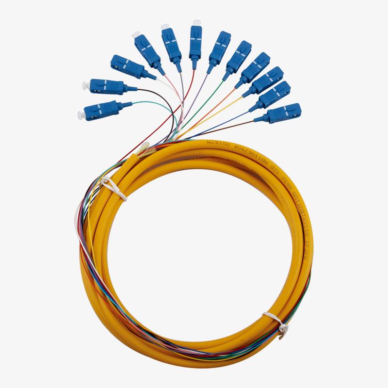 ربط الوتر 12 ضفيرة متعددة الألوان SC / UPC